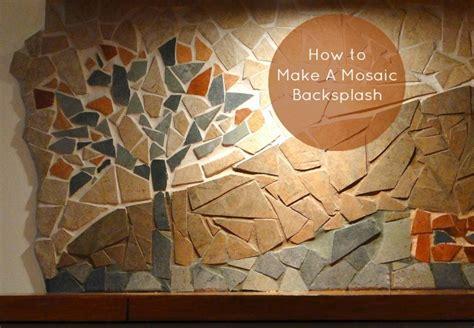 how to make a mosaic backsplash