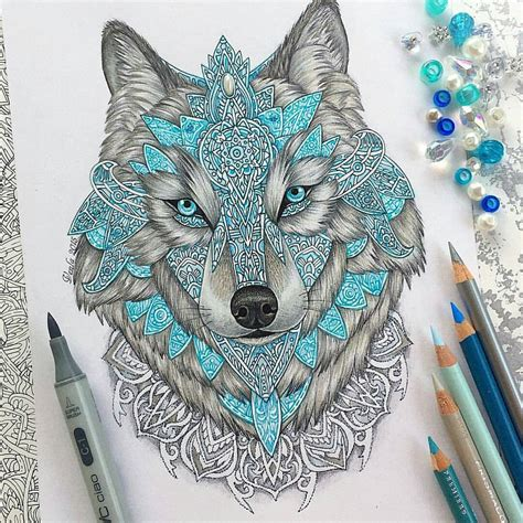 tattoo instagram pages art featuring page op instagram quot mandala wolf by vvvenla