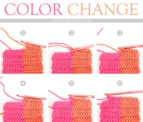 how to change color in crochet crocheting how to change colors wmperm for