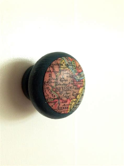 Worlds Knob by World Map Cupboard Knob Craft Made Out Of Maps World Map