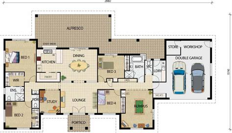 Home Ideas 187 Open Area House Plans