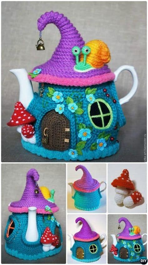 the knit house house teapot cosy pattern is just gorgeous the whoot