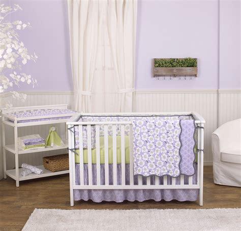 Poppy Crib Bedding by Lavender Purple Poppy Flowers Floral 4 Crib Bedding