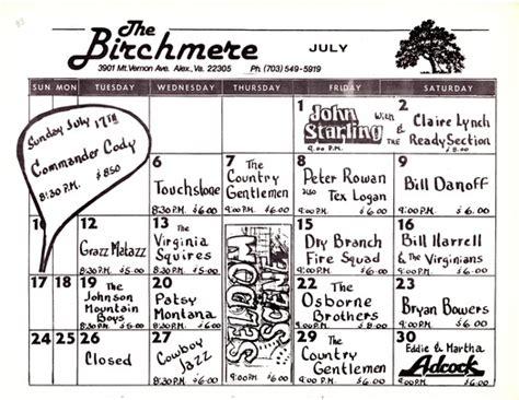 Birchmere Calendar Birchmere Schedule For December And January New Calendar