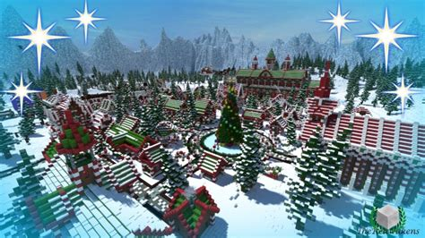 minecraft christmas tree map thereawakens santa s gingerbread city minecraft project