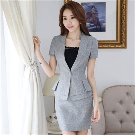 new summer occupation beautician hotel front desk overalls slim sleeved set office