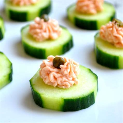how to canapes salmon canapes recipe dishmaps