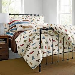 The Company Store Duvet Covers Dog Run Flannel Bedding Eclectic Kids Bedding By The