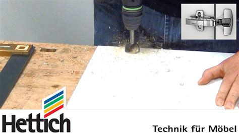 Installation of cup hinges using BlueJig hinge drilling