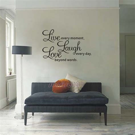 Wall Decal Quotes For Living Room by 025c Large Black Quote Wall Stickers Living Room