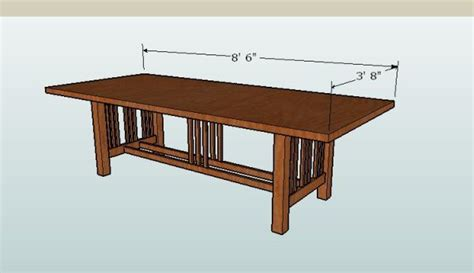 craftsman dining table plans finewoodworking