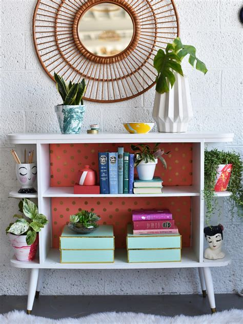 bright bookshelf backing hgtv s decorating design