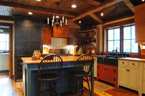Kitchen Nook Decorating Ideas by Central Kentucky Log Cabin Primitive Kitchen Eclectic