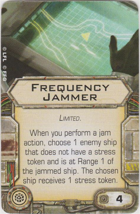 frequency jammer ship upgrade cards x wing