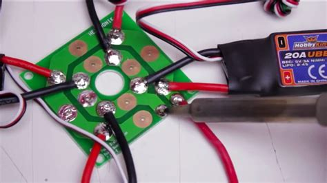 build a quadcopter mounting the motors and speed