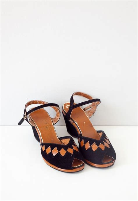 Wedges Bintage 1940s shoes 1940s and wedges on