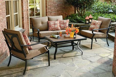 Numark Industries Patio Furniture Jaclyn Smith Brookner 4 Piece Cushion Seating Set Limited