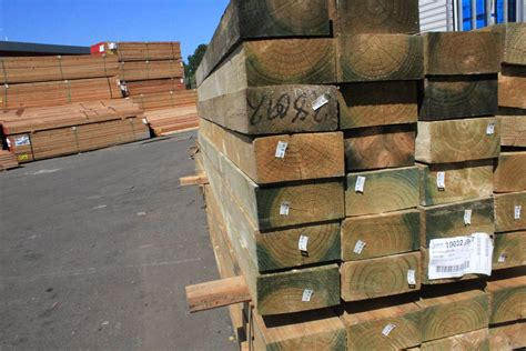 H4 Treated Pine Sleepers by 150 X 50 X 2400mm H4 Treated Pine Sleepers Timber Building Supplies