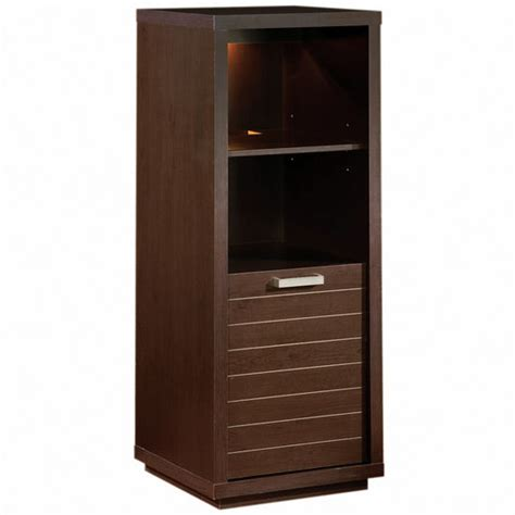 audio video tower cabinet bookcase skyline media tower bookcase w two shelves