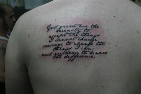 serenity tattoo serenity prayer tattoos designs ideas and meaning