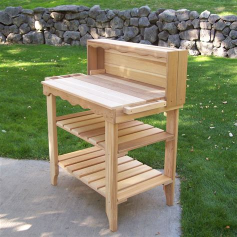 potters benches woodcountry deluxe potting bench reviews wayfair