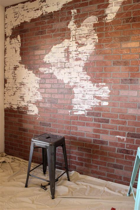 faux walls faux brick wall world map