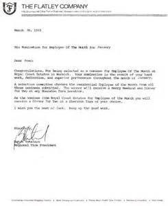 Jrf Award Letter June 2014 Sle Nomination Letter For Employee Of The Year