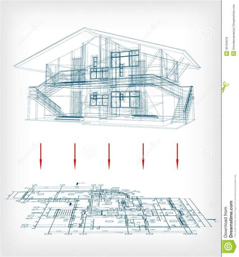 house layout vector stylized house model with floor plan vector stock vector