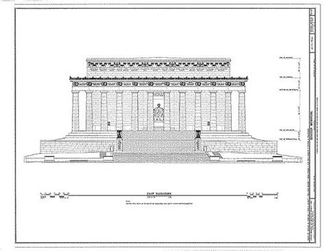 lincoln memorial floor plan front elevation lincoln and cgi on