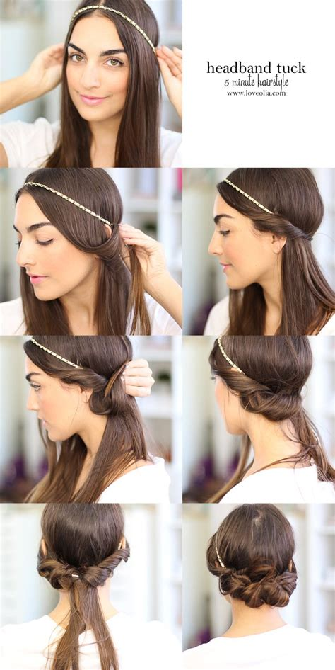 headband tuck hairstyle 25 best ideas about headband hair tuck on pinterest