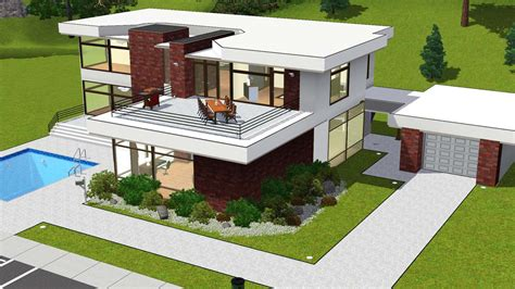home design for sims sims 2 modern house plans house modern
