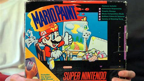 mario painting mario paint snes mike