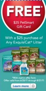 Petsmart Gift Card Check - petsmart 25 gift card with 25 cat litter purchase discountqueens com