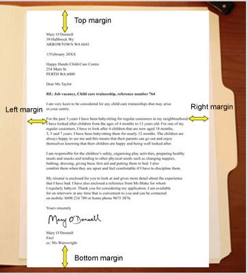 Business Letters And Memos Usually Margins Of business letter layouts