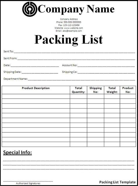 export packing list template 32 packing list templates free excel word pdf format