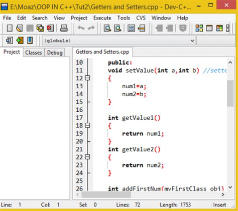 setter is defined without getter setter and getter functions in c free source code