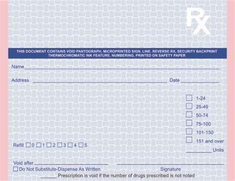 multipart tamper resistant california rx prescription