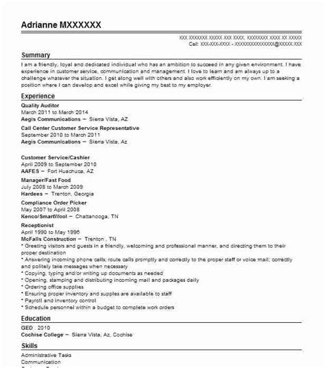 quality auditor resume sample auditor resumes livecareer