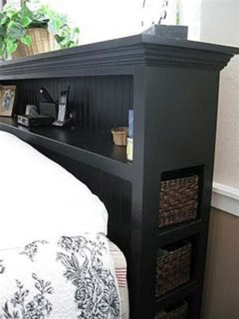 25 best ideas about headboard shelves on cozy place headboard with shelves and bed