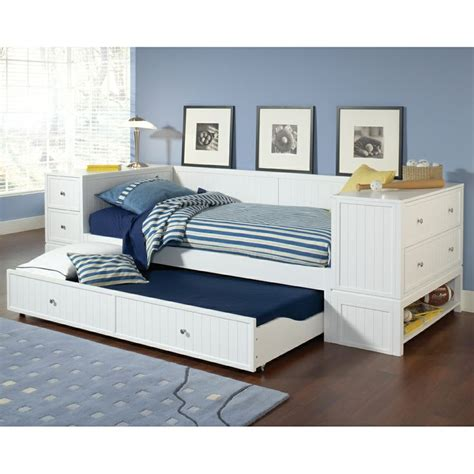 Daybed With Trundle And Storage Trundle Beds With Storage Designs Homesfeed