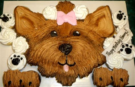 how to make yorkie cupcakes a birthday cupcake cake with a yorkie cake by angela ig