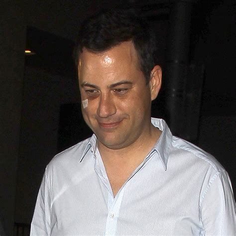 jimmy kimmel hair loss jimmy kimmel with a black eye photo popsugar celebrity