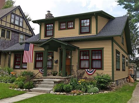 exterior paint colors craftsman style homes home design and style