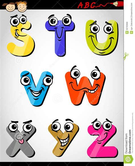 Letters Images comic letters alphabet illustration stock vector