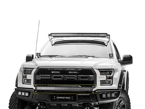 led lights for truck bumpers zroadz f 150 40 in curved led light bar bumper mounting