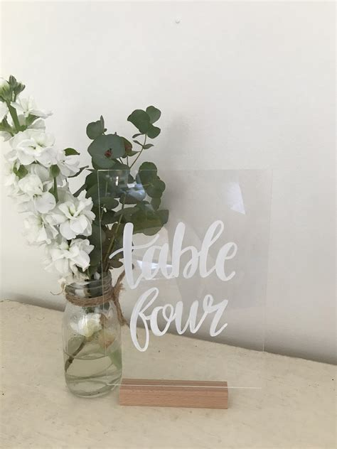 acrylic table numbers wedding table numbers perspex acrylic the wedding event creators