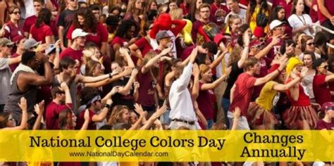 national college colors day today is national college colors day 15 pieces jigsaw