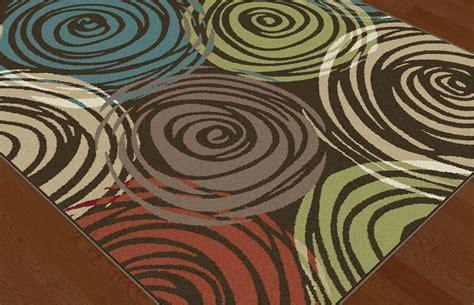 Geometric Area Rugs Contemporary Brown Contemporary Circles Area Rug Modern Geometric Swirls Multi Color Carpet Ebay