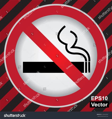 no smoking sign red circle vector circle prohibited sign for no smoking area sign