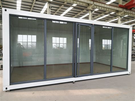 glass panel door coffee shop china eps sandwich panel and glass wall container house